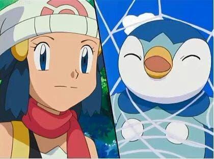Anime de Pokémon Piplup telaraña