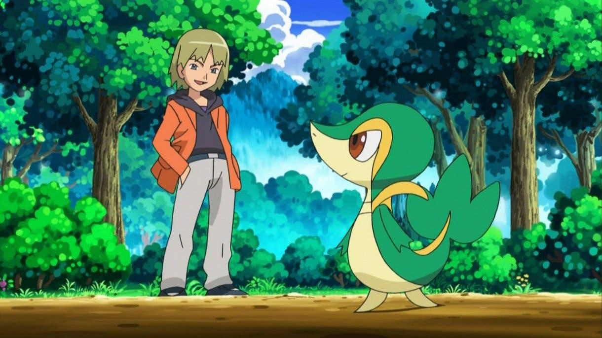 Anime de Pokémon Trip y su Snivy