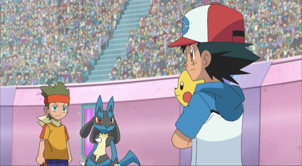 Anime de Pokemon Ash vs Cameron
