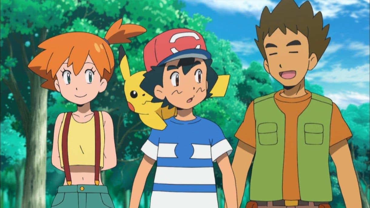 Anime de Pokemon Brock Misty Alola