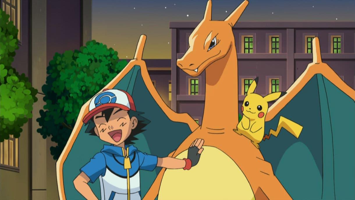 Anime de Pokemon Charizad de Ash Teselia