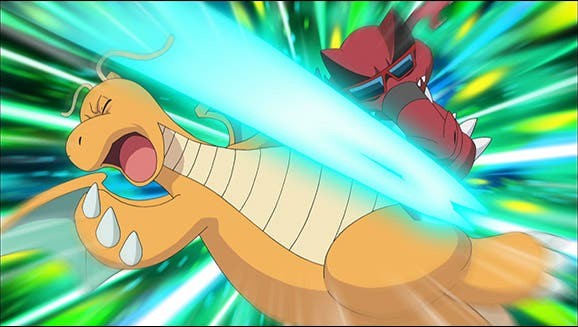 Anime de Pokemon Copa Junior Dragonite Iris vs Krookodile Ash