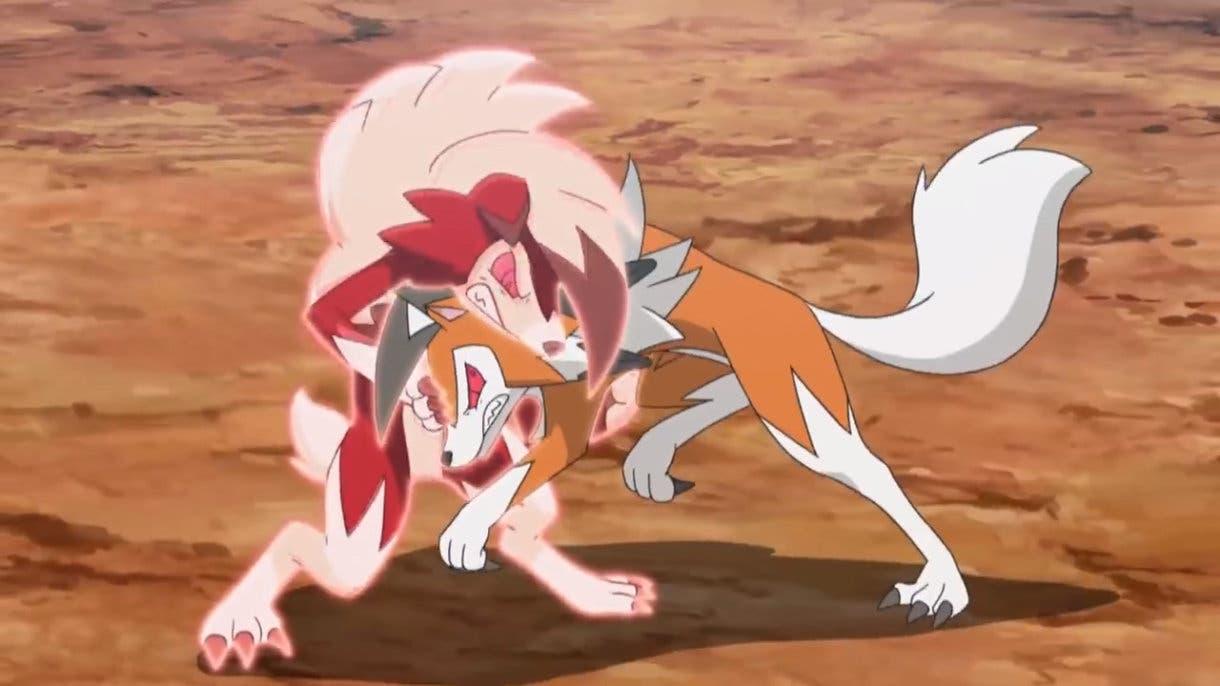 Anime de Pokemon Liga Alola Ash vs Gladio Lycanroc