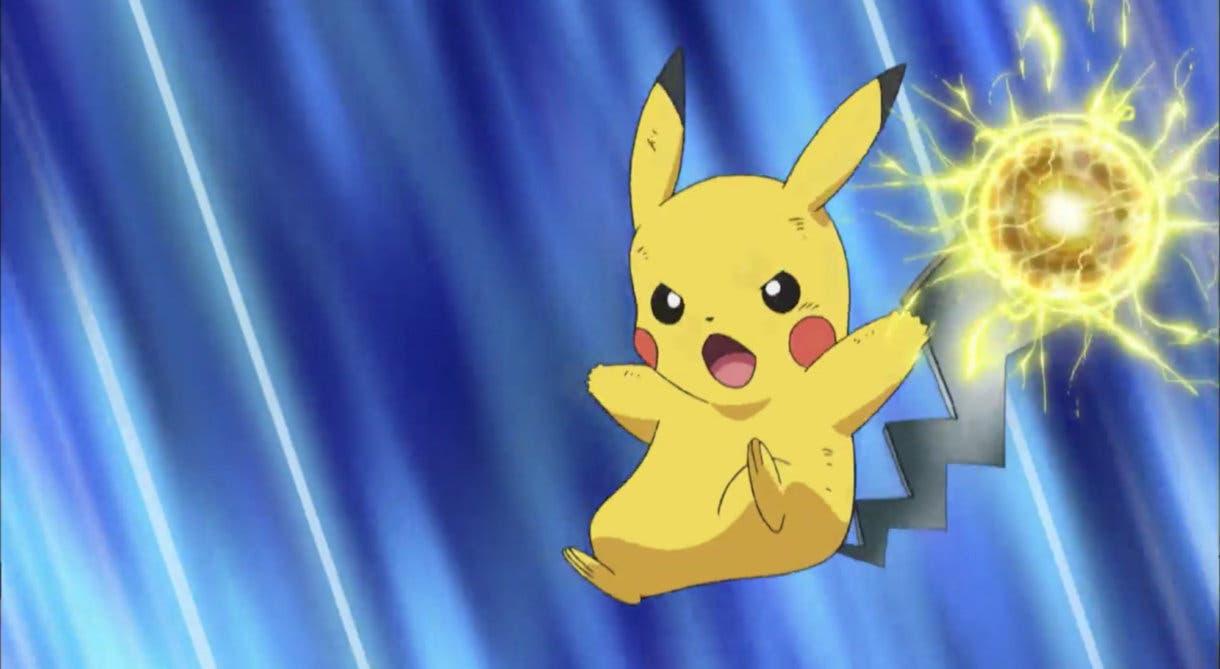 Anime de Pokemon Pikachu Cola Ferrea Bola Voltio