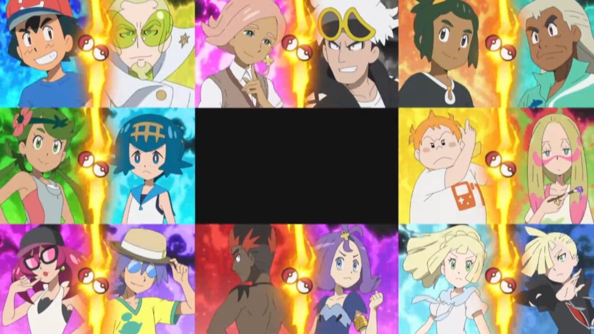 Anime de Pokemon clasificados Liga de Alola