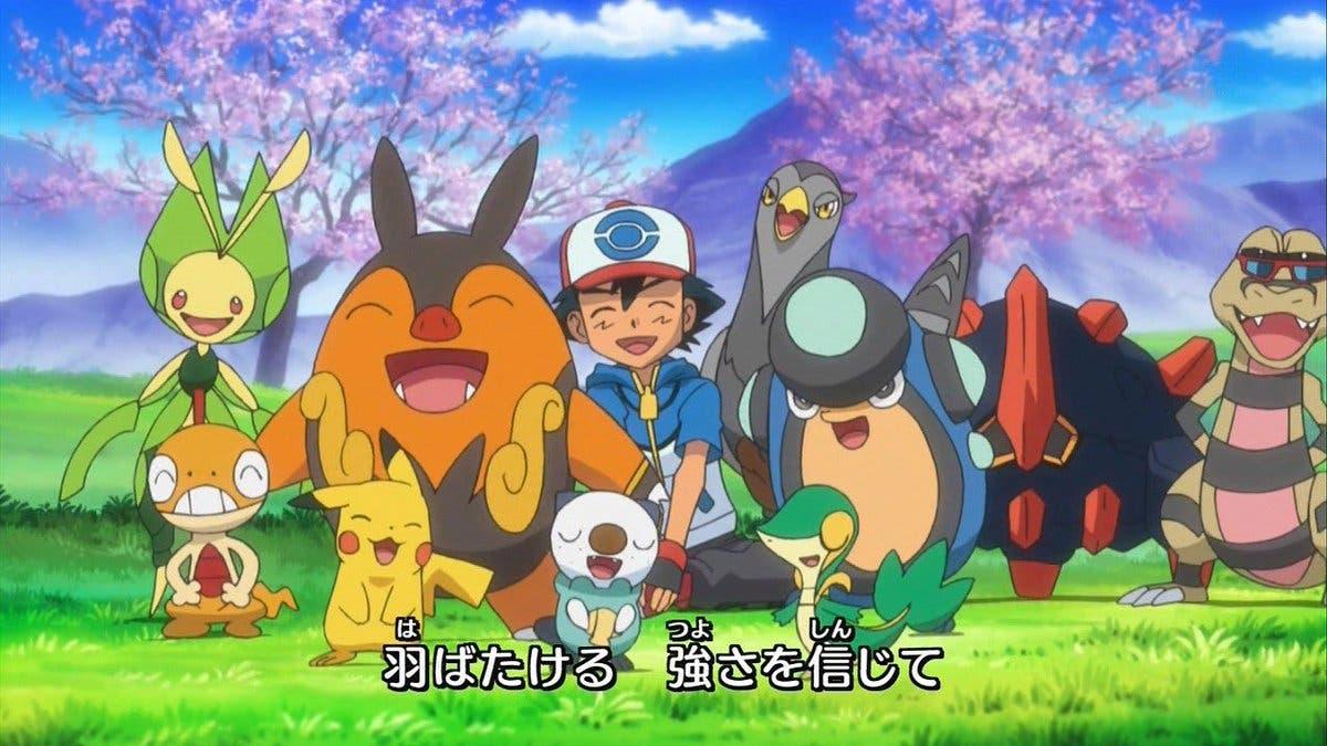 Anime de Pokemon equipo de Ash en Teselia