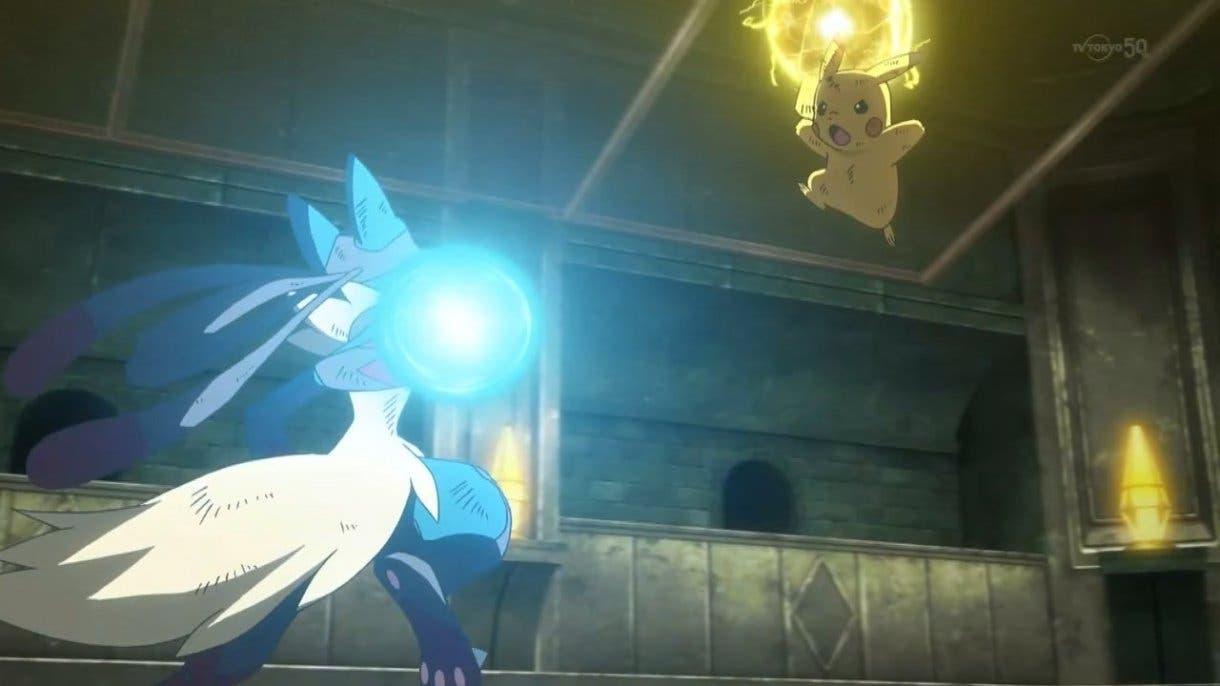 Combate Pokémon Pikachu vs Lucario