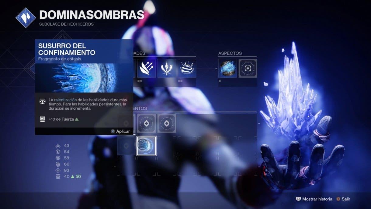 Destiny 2 nuevas opciones de personalización de la subclase