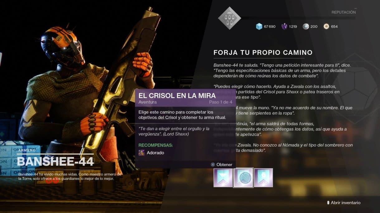 Destiny 2 capacidad de selección de modo de juego para las aventuras