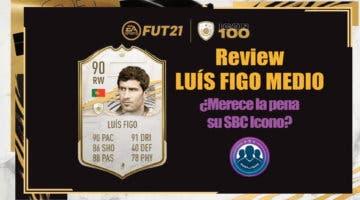 Imagen de FIFA 21: review de Luís Figo Medio. ¿Merece la pena hacer su SBC Icono?