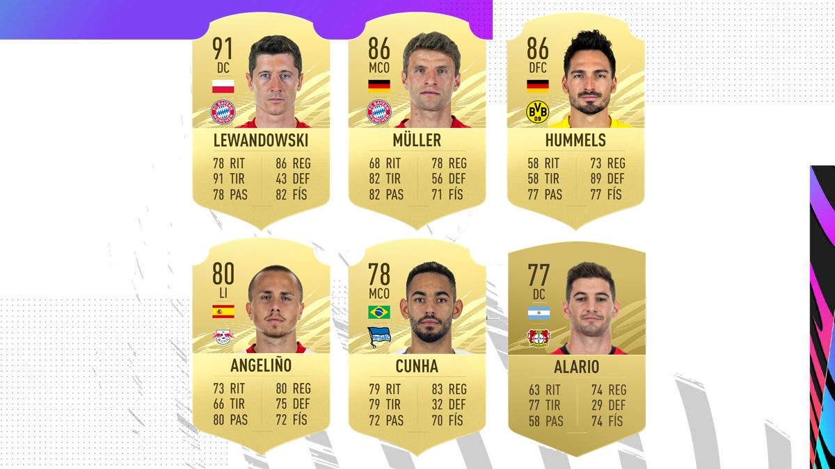 FIFA 21 Ultimate Team Nominados POTM octubre Bundesliga