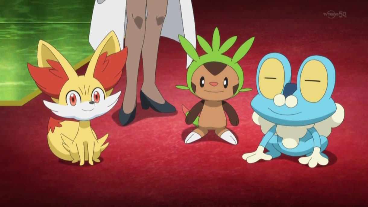 Pokemon iniciales Fennekin Chespin Froakie