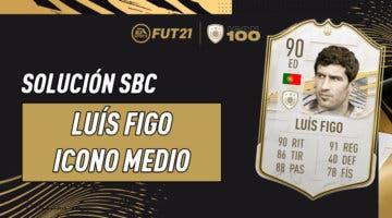 Imagen de FIFA 21: solución al SBC de Luís Figo Icono Medio