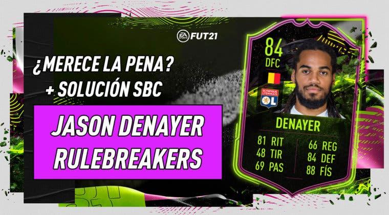 Imagen de FIFA 21: ¿Merece la pena Jason Denayer Rulebreakers? + Solución de su SBC