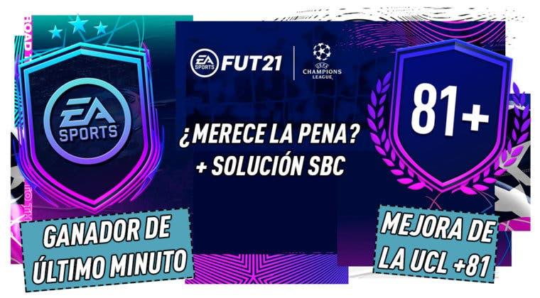 """Imagen de FIFA 21: ¿Merecen la pena los SBC's """"Ganador de último minuto"""" y """"Mejora de la UCL +81""""?"""