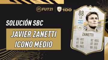 Imagen de FIFA 21: solución al SBC de Javier Zanetti Icono Medio