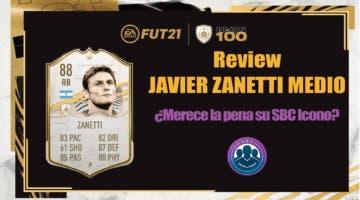 Imagen de FIFA 21: review de Javier Zanetti Medio. ¿Merece la pena hacer su SBC Icono?