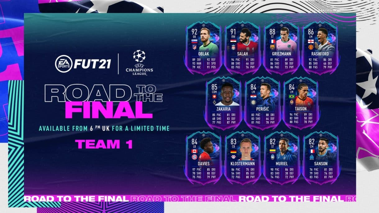 FIFA 21 Ultimate Team Road to the Final (RTTF) Primer equipo