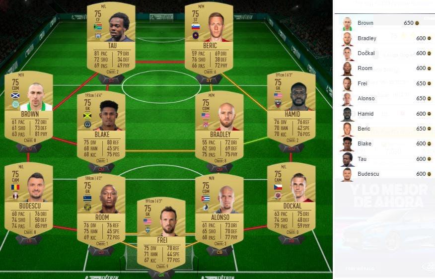 FIFA 21 Ultimate Team SBC Mejora Black Friday