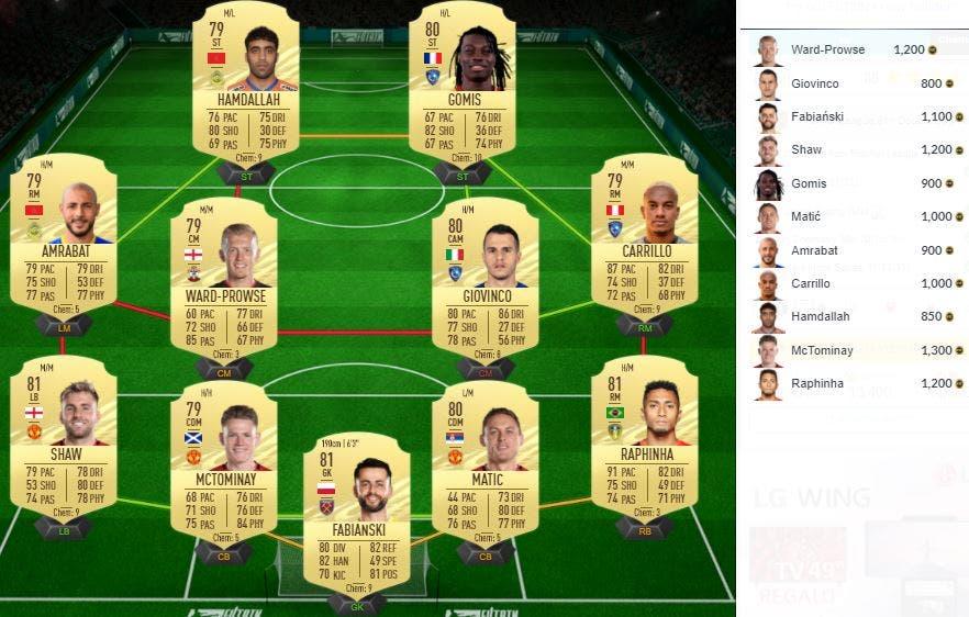 FIFA 21 Ultimate Team SBC Mejora Premier League Black Friday