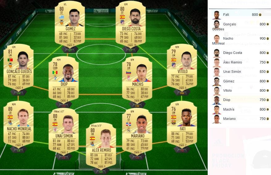 FIFA 21 Ultimate Team SBC Mejora LaLiga Santander Black Friday