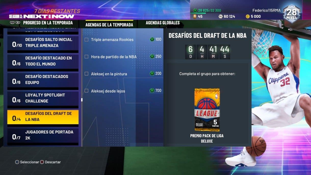 NBA 2K21 MyTeam Colección Draft
