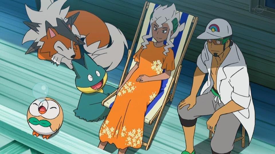 anime de Pokémon Profesora Pimpinela embarazo
