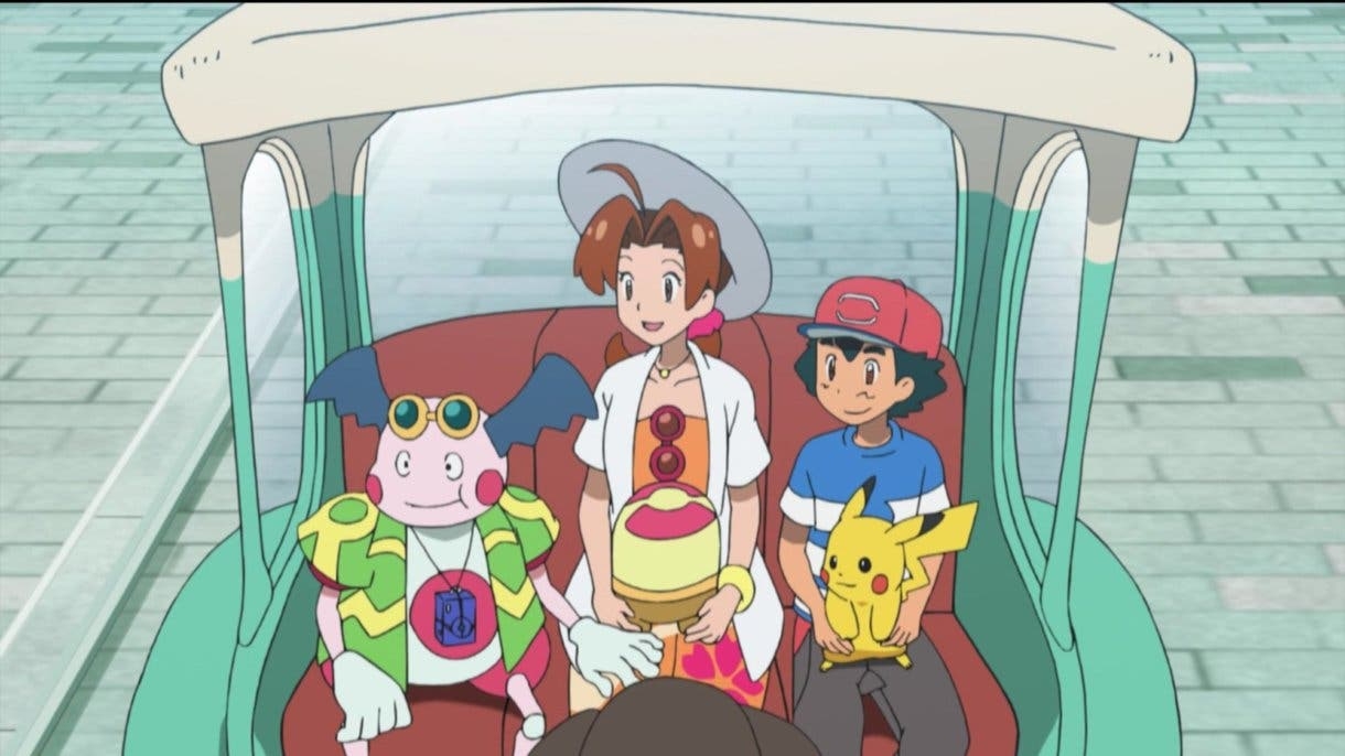 anime de Pokemon Ash Delia Mr Mime Alola