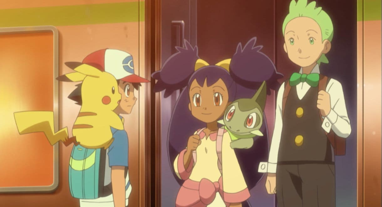 anime de Pokemon Ash Iris Millo despedida