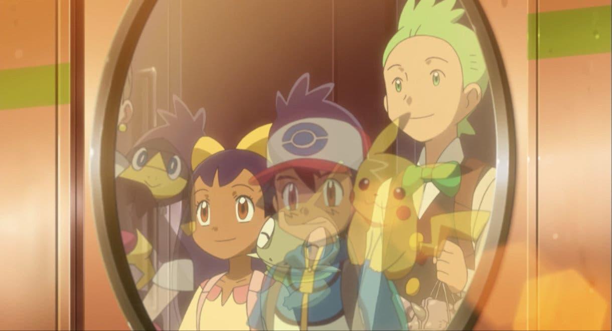 anime de Pokemon Ash Iris Millo despedida cristal