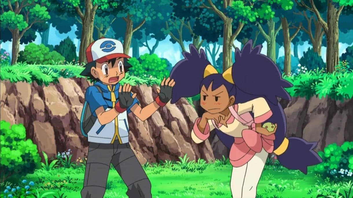 anime de Pokemon Ash e Iris