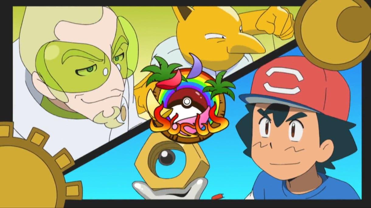 anime de Pokemon Ash vs Fabio Liga Alola