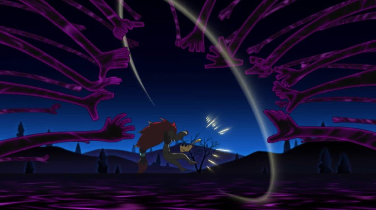 anime de Pokemon Ash vs Gladio Liga Alola Pikachu Zoroark