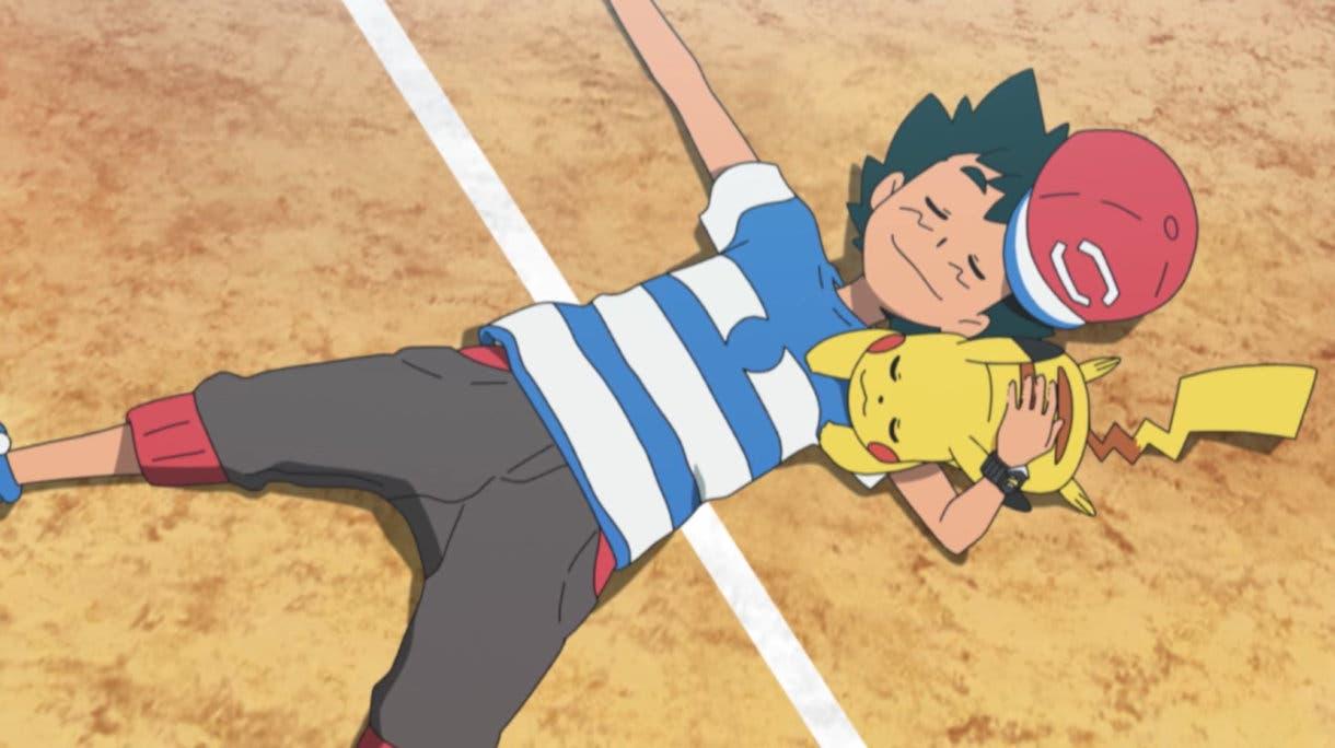 anime de Pokemon Ash y Pikachu victoria total Liga Alola