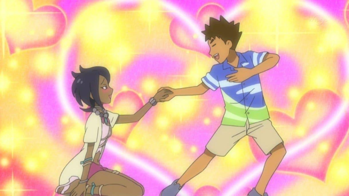 anime de Pokemon Brock y Mayla