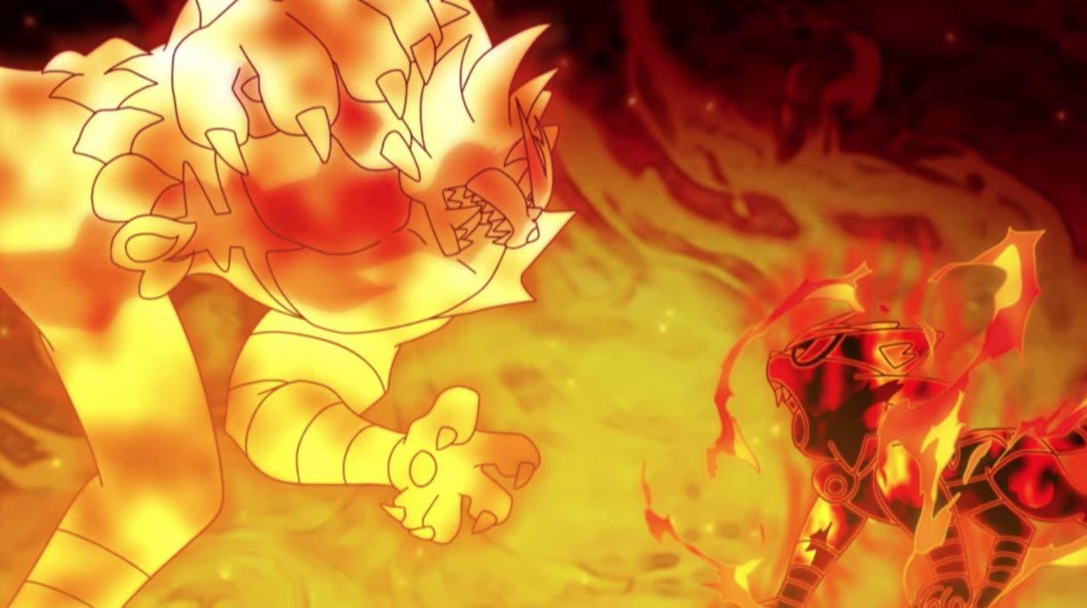 anime de Pokemon Incineroar vs Torracat Liga Pokemon