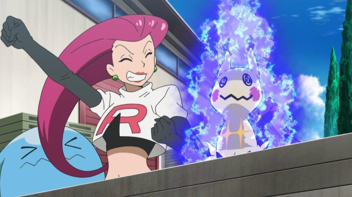 anime de Pokemon Jessie y Mimikyu
