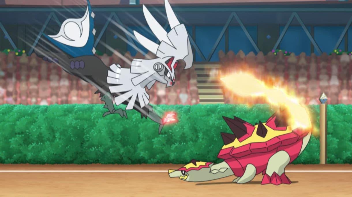 anime de Pokemon Kiawe vs Gladio Silvally Turtonator