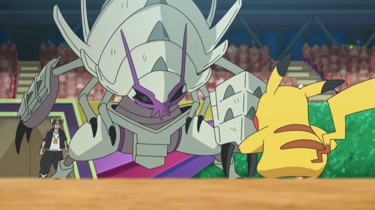 anime de Pokemon Liga Alola Ash vs Guzman Pikachu Golisopod