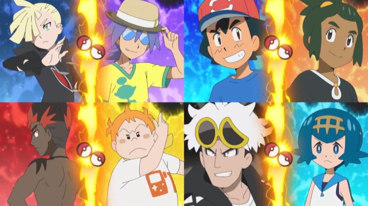 anime de Pokemon Liga Alola cuartos