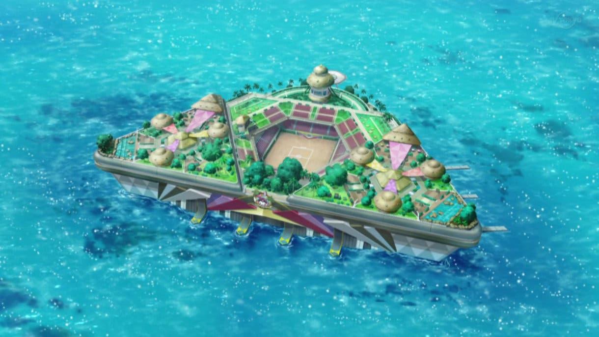 anime de Pokemon Liga Pokemon de Alola