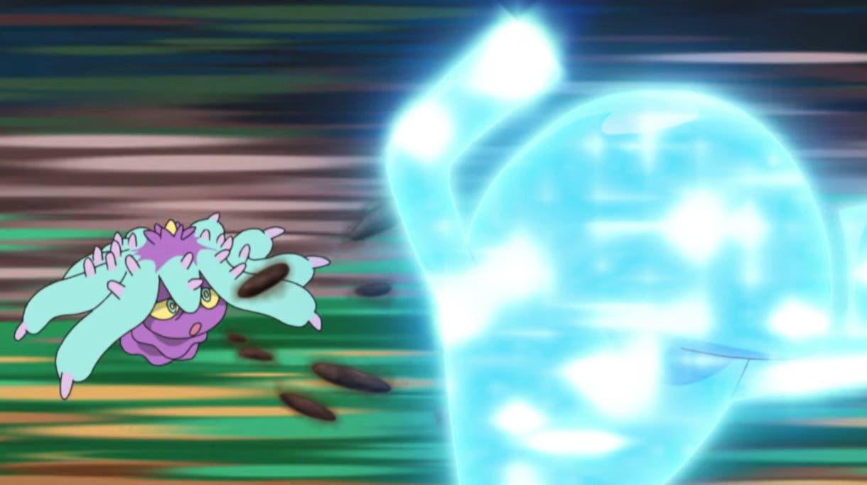 anime de Pokemon Liga Pokemon de Alola Wobbuffet vs Mareanie Team Rocket