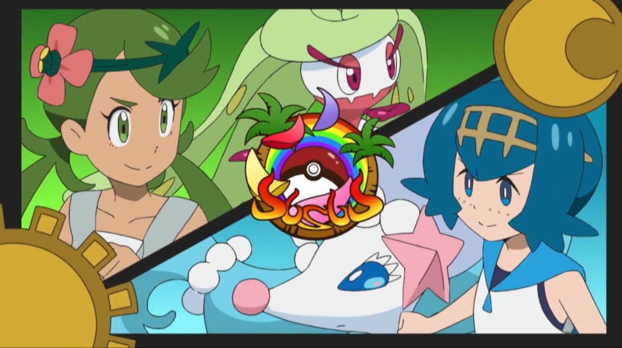 anime de Pokemon Nereida vs Lulu Liga Alola
