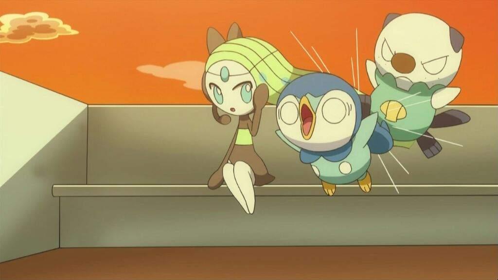 anime de Pokemon Piplup Oshawott Meloetta