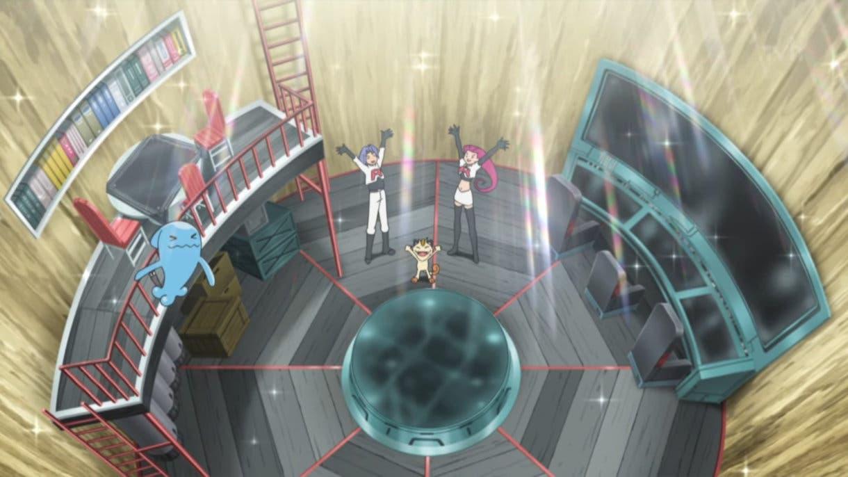 anime de Pokemon base secreta del Team Rocket Alola