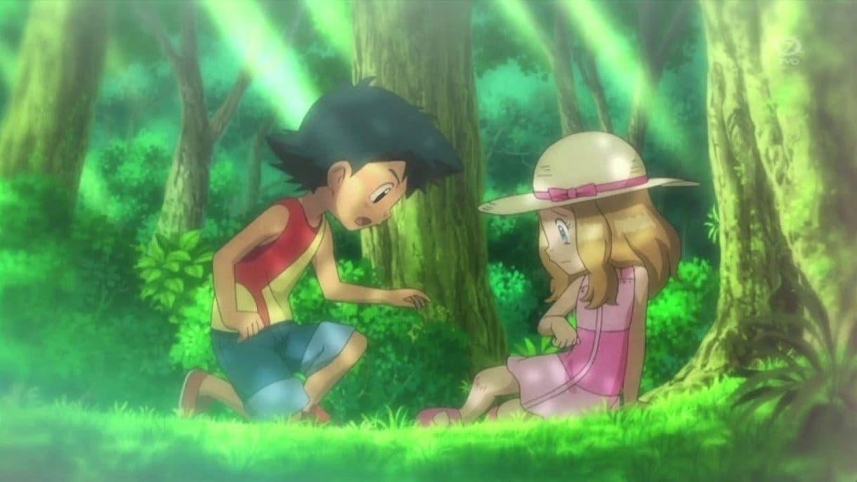 anime de Pokemon Ash y Serena de pequeños