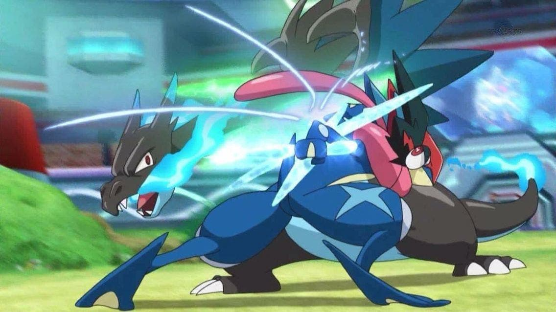 anime de Pokemon Greninja vs Charizard