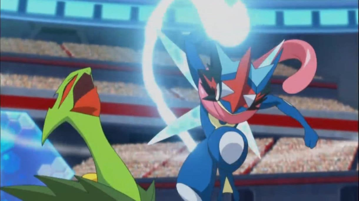 Anime de Pokemon Greninja vs Sceptile