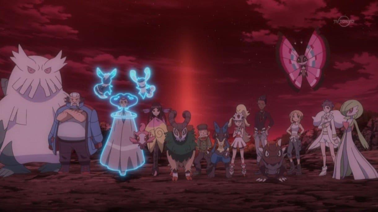 anime de Pokemon Lideres de Gimnasio Kalos y Campeona Dianta
