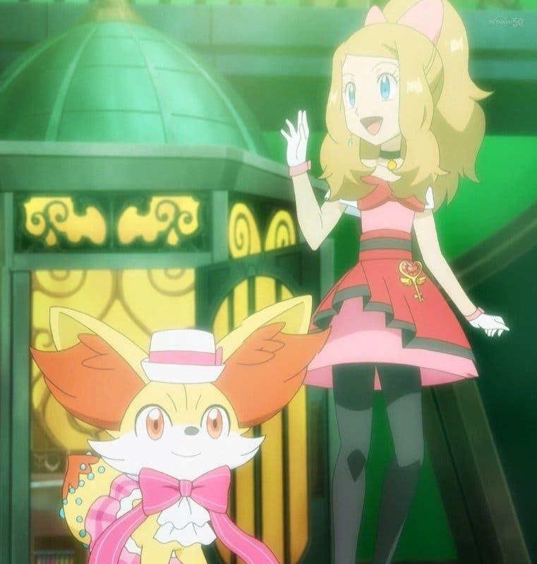 Anime de Pokemon Serena y Fennekin Gran Espectaculo